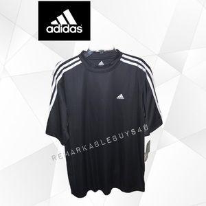Adidas L Black Men's Athletic Shirt Tee Jersey